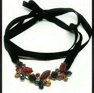 Rhinestone Choker Necklace New